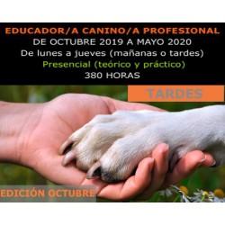 ADIESTRAMIENTO Y EDUCACIÓN CANINA (Presencial tardes) Edición Octubre
